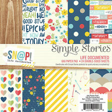Simple Stories Life Documented Collection 6x6 Paper Kit 7026