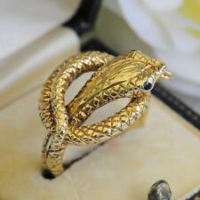 Vintage de 9 quilates de oro Snake Serpiente Anillo