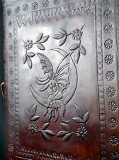 MOON FAIRY - Luxury Handmade Leather A4 Portfolio - or Wicca Book of Shadows