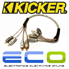 Kicker Car Audio Proffesional 0.5 Metre RCA Phono Cables Leads 2 Pairs of RCA