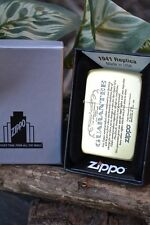 Japanese Zippo Lighter - Japan - Guarantee - 1941 Replica - Rare - Brass