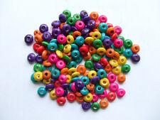 200pz misti  perline in legno forma cipolla 8x4mm colore vari