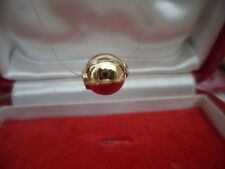 RETRO 14 ct GOLD FLOATING BALL PENDANT 14CT GOLD CLASP ILLUSION NECKLACE 14k