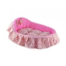 Cozy Small Pet Supply Dog Sleeping Bed Soft Cat Nest Removal Pad Mat Pink Roses