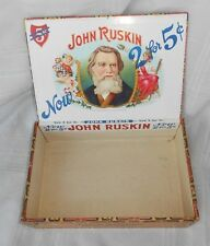 Vtg John Ruskin I Lewis Cigar Co Box Display Store Counter S Jacoby Best Biggest