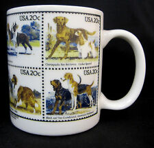 Porcelain Rosalinde Dog Stamps Coffee Tea Cocoa Cup Mug Container