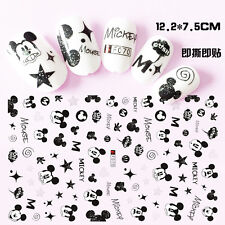 70 Cute Disney Mickey Mouse Nail Decals 3D Nail Art Sticker for Nail Polish New