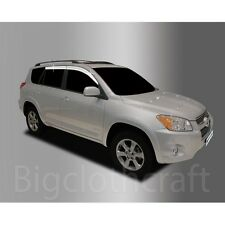 New Chrome Side Window Vent Visors Rain Guards for Toyota RAV4 2006 - 2012
