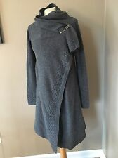 Adidas SLVR Women's Artsy Draped Knit Poncho Wool Sweater Coat Sz M Gray NWT