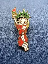 Betty Boop Statue Of Liberty Red Dress Gold Tone Tac Pin Lot TJ-15