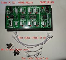 Opamp tester for Single ,Dual & Quad OPMAP (Audio ,general ,High speed opamp)