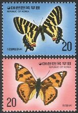 Korea 1976 Butterflies/Insects/Nature/Conservation/Butterfly 2v set (n27352)