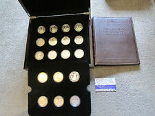 ROYAL MINT 2004 - 2006 18 COIN SILVER PROOF HISTORY of the ROYAL NAVY COLLECTION