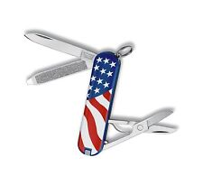 Victorinox Swiss Army Knife Classic SD USA Flag Stars & Stripes Free Shipping