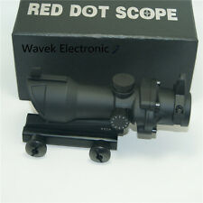 For ACOG Style 1x32 Red/Green Dot Scope w/Iron Sight Airsoft METAL Scope Hunting