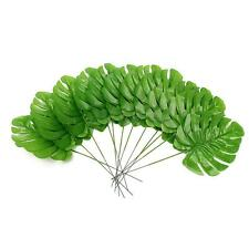 12 Artificial Palm Fern Turtle Leaf Plant Tree Branch Green Wedding Home Decor