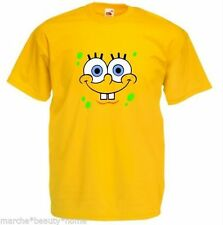 Para Hombre Bob Esponja Loose Fit Camiseta Bob Square Pants Amarillo Top Fun L Grande