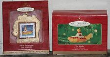 "HALLMARK KEEPSAKE ""THE BEATLES"" YELLOW SUBMARINE,Lunchbox & Stamp Ornament. NIB"