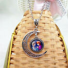 Disney frozen chain pendant necklace Princess Anna & Elsa Gift /BX116
