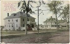 Lower Main Street Showing Goodall Residences in Sanford ME Postcard