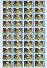 Upper Volta 1980 Cycling Olympic Games 3f50 MNH Full Complete Sheet #S151