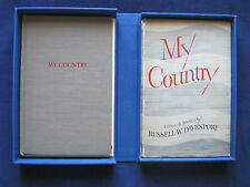 MY COUNTRY - SIGNED by AUTHOR & by FREDERIC MARCH,  2nd Copy SIGNED to His Wife