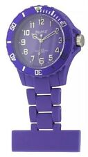 Neon T Unisex Nurses Fob Watch NE12/G with Purple Dial and Purple Plastic Strap