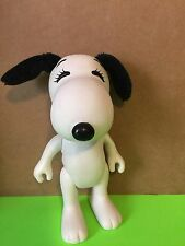 Rare Vintage 1966 United Feature Snoopy, White Vinyl, Soft Ears & Tail