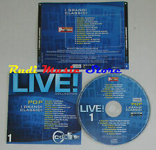 CD LIVE COLLECTION 1 DAVID BOWIE BOB DYLAN LOU REED ZUCCHERO JOHN (C9) mc lp dvd