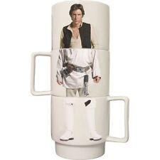 Star Wars Stacking Mugs Official Set of 4 Luke Skywalker Han Solo Stormtrooper