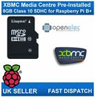 8GB Micro SD Card Class 10 Media Centre with OpenElec & XBMC for Raspberry Pi B+