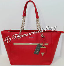 NEW Guess Alessandra Tote Handbag Purse Red NWT