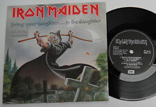 "Iron Maiden-Bring Your Daughter-UK ETCHED VINYL 7""-Rock Heavy Metal-1990-HEAR"