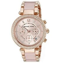 Brand New Ladies Michael Kors Rose Gold Parker Chronograph Watch-MK5896-RRP-£279