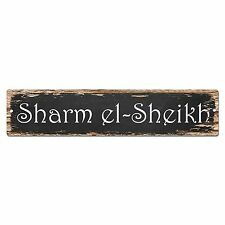 SP0176 Sharm el Sheikh Street Sign Bar Store Shop Pub Cafe Home Room Chic Decor