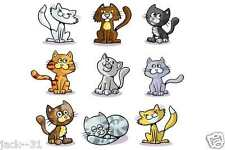 Wall sticker 9X - ROOM NURSERY DAYCARE  - FUNNY CATS