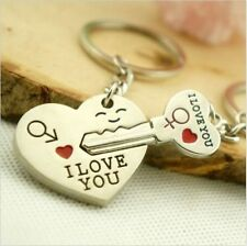 Couple I LOVE YOU Heart Keychain Ring Keyring Key Chain Lover Valentine's gift
