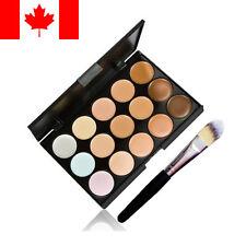 15 Colors Contour Face Cream Makeup Concealer Palette + Powder Brush New