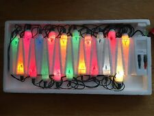 20 Icicle Light Set Indoor Outdoor Flashing and Steady Miniature