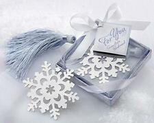 Lovely Cute Snowflake Creative Exquisite Alloy Bookmark With Ribbon Box Gift WOA