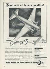 1949 Douglas Aircraft Ad Super DC-3 Airliner Airplane Commercial Flying Travel