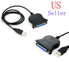 New USB 2.0 Male to 25 Pin DB25 Female Parallel Port Printer Adapter Cable PC US