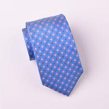 Pink Daisy Floral Maroon Diamond Blue Skinny Woven Standard Regular Tie Necktie