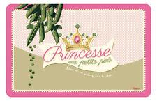 1 Tischset Prinzessin auf der Erbse  Retro abwaschbar Kunststoff 43x28 Natives