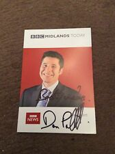 DAN PALLETT (BBC MIDLANDS TODAY) SIGNED CAST CARD