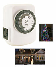 Christmas Tree Light Lite Timer 24 Hour Mechanical with Ground Indoor 261*