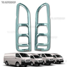 Chrome Red Tail Light Rear Lamp Cover Trim For Toyota Hiace Commuter 2005 - 2013
