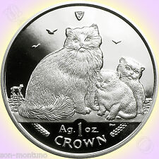 2007 Isle of Man - RAGDOLL CAT COIN - 1 oz .999 Silver Proof with Mint Box & COA