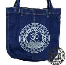 S08. MANDALA GOA  LOTUSJeans Denim Shopping Bag Marionelli Tasche / Stofftasche