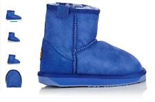 EMU AUSTRALIA LADIES STINGER MINI SHEEPSKIN COBALT SLIPPERS BOOTS UK 5 RRP £120
